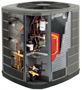 Heat Pump photo showing the inside of the unit